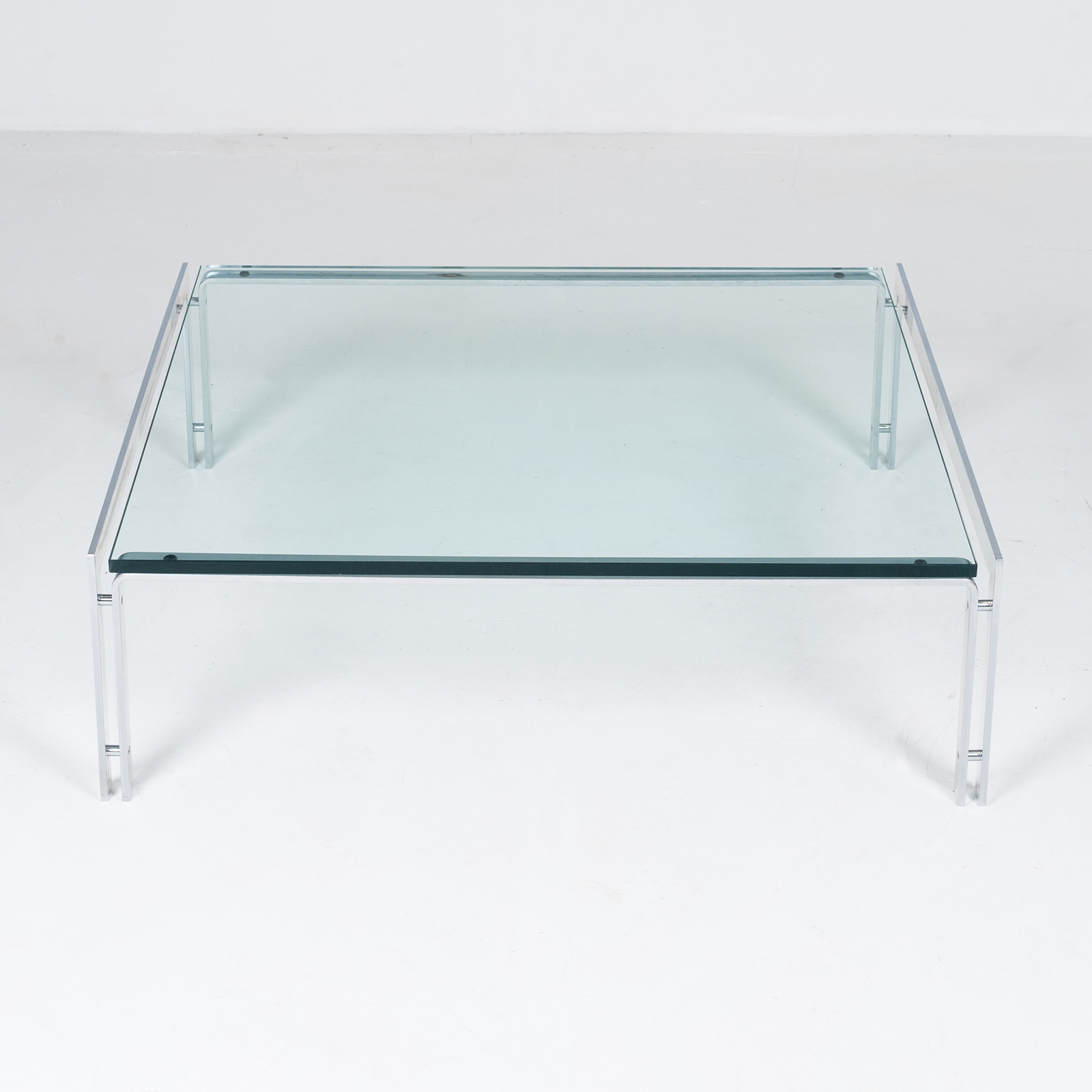 Coffee Table By Metaform In Glass And Chrome, 1970s, The Netherlands57