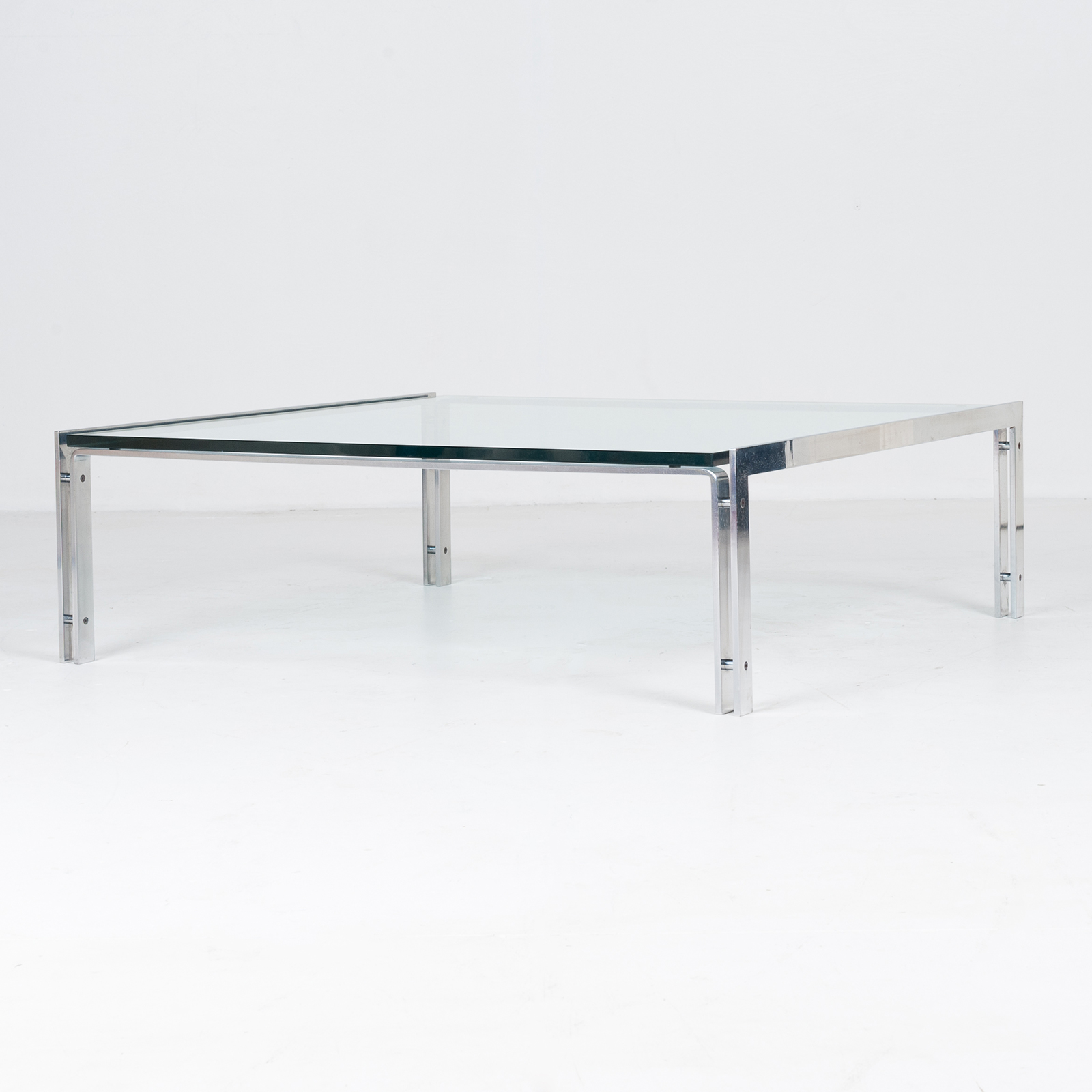Coffee Table By Metaform In Glass And Chrome, 1970s, The Netherlands59