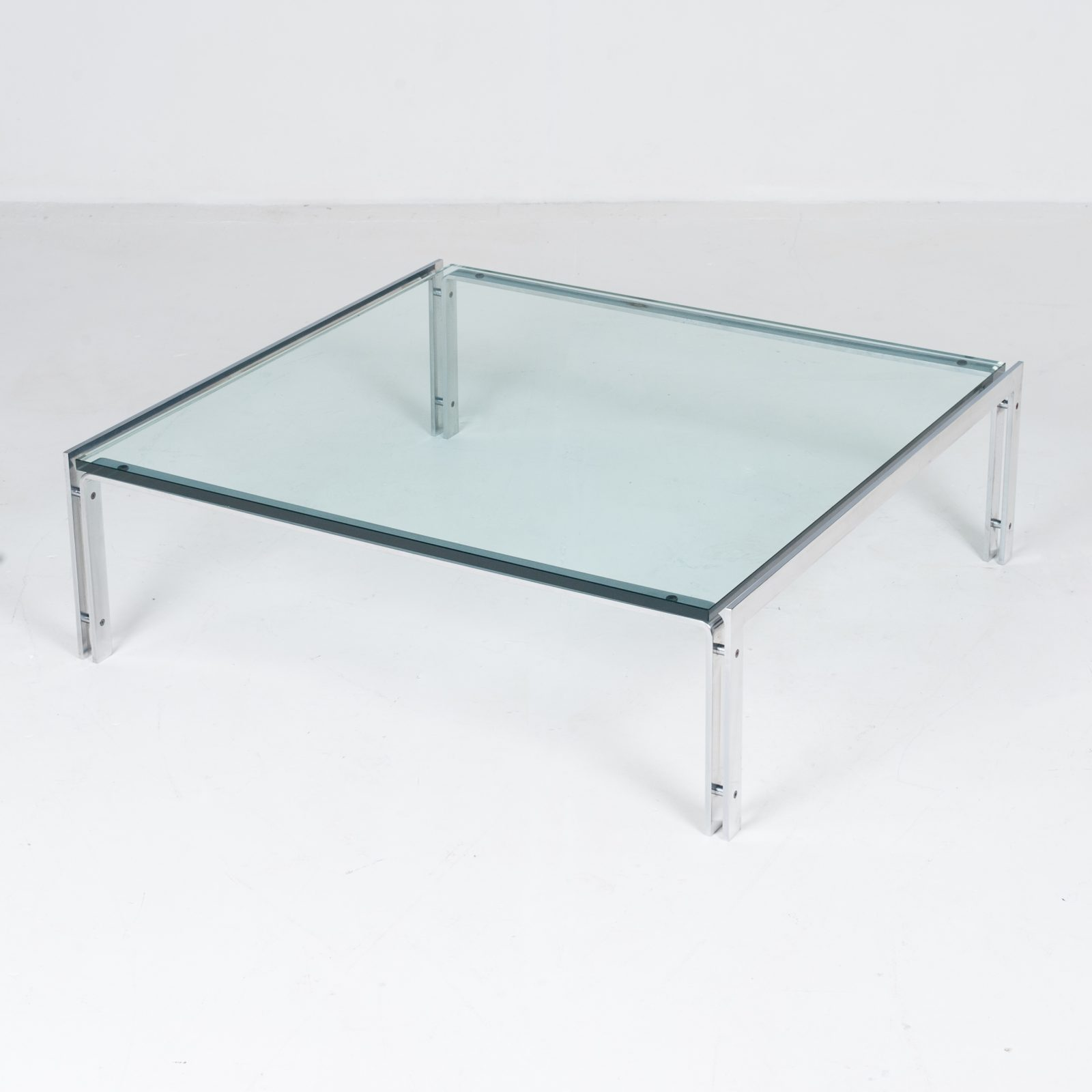 Coffee Table By Metaform In Glass And Chrome, 1970s, The Netherlands60