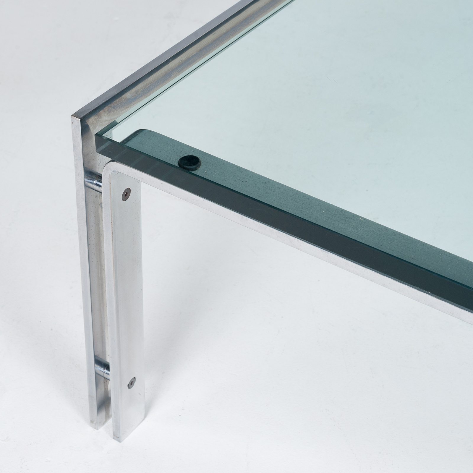 Coffee Table By Metaform In Glass And Chrome, 1970s, The Netherlands61