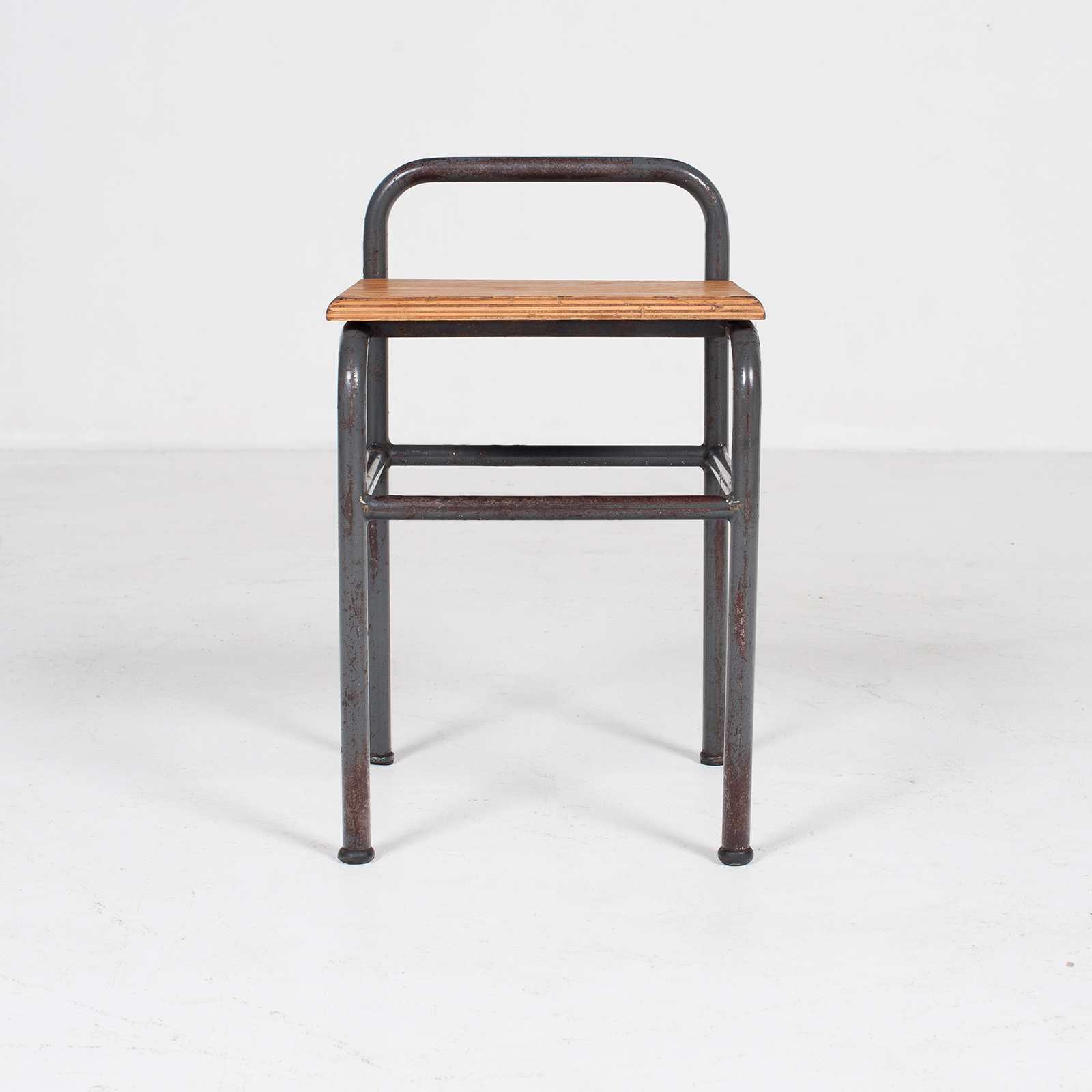 Industrial Stool With Timber Seat, Belgium2