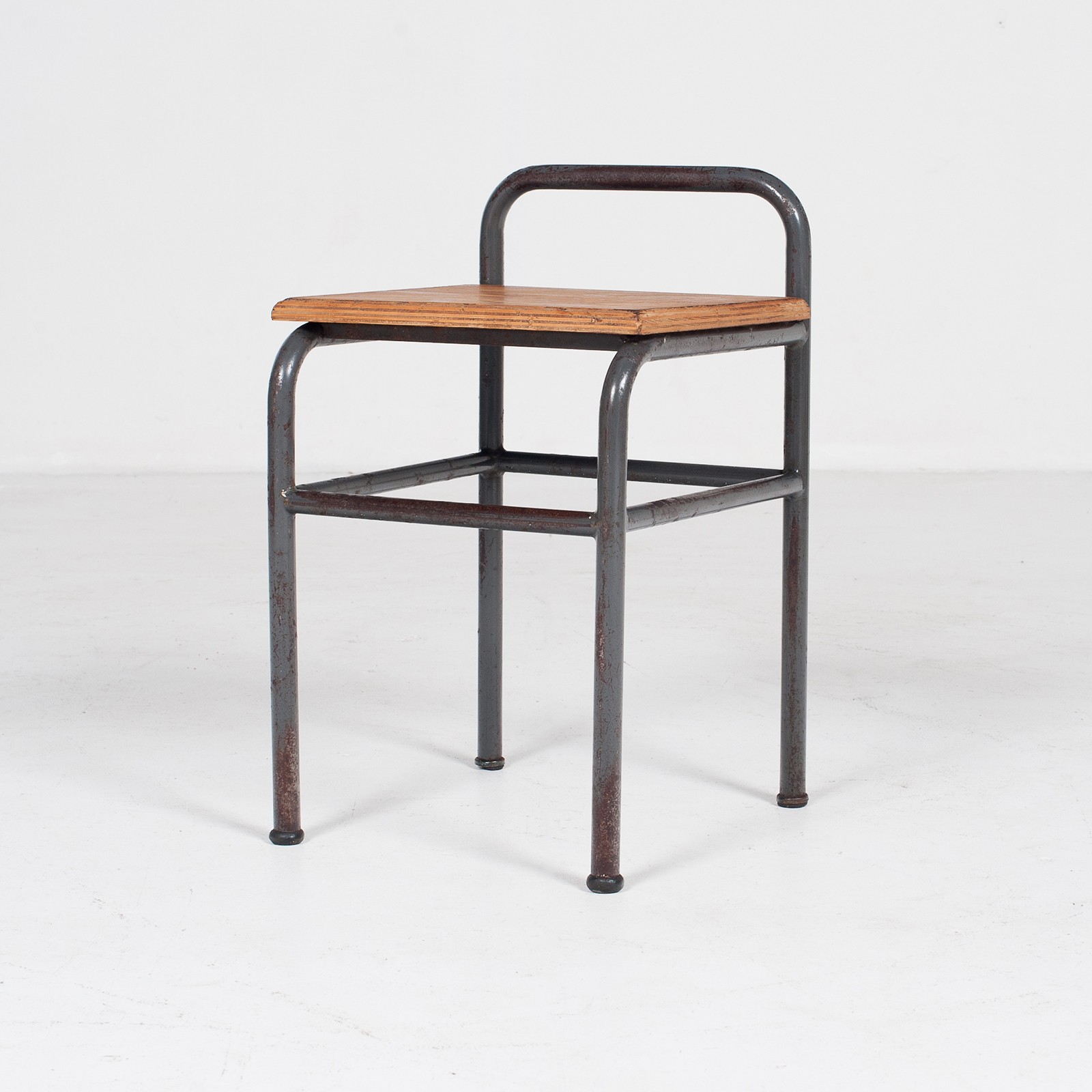 Industrial Stool With Timber Seat, Belgium4