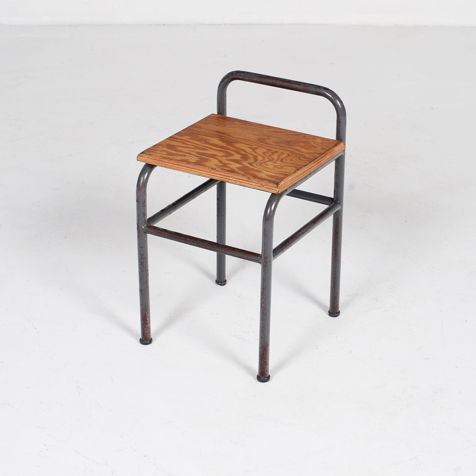 Industrial Stool With Timber Seat, Belgium5