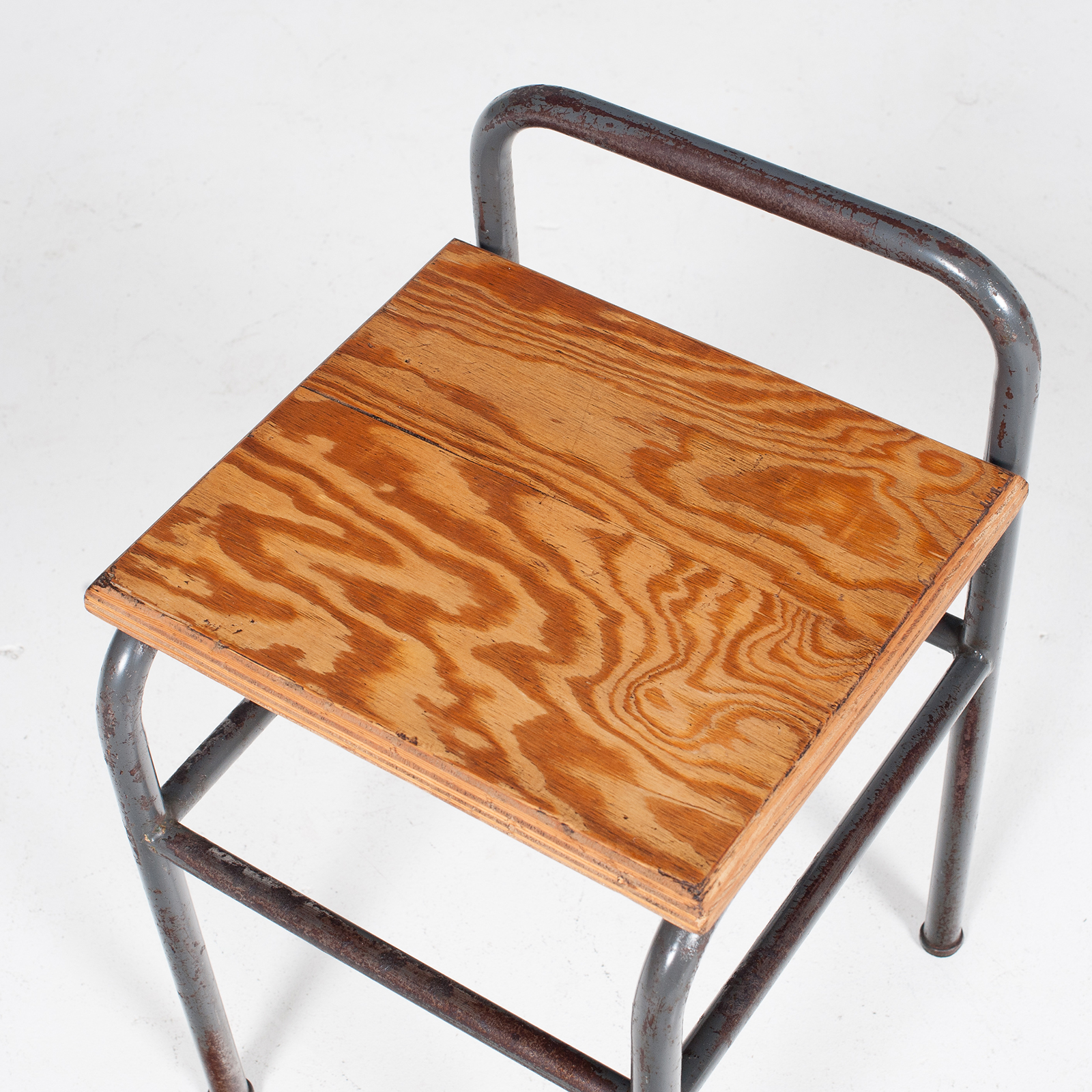Industrial Stool With Timber Seat, Belgium6