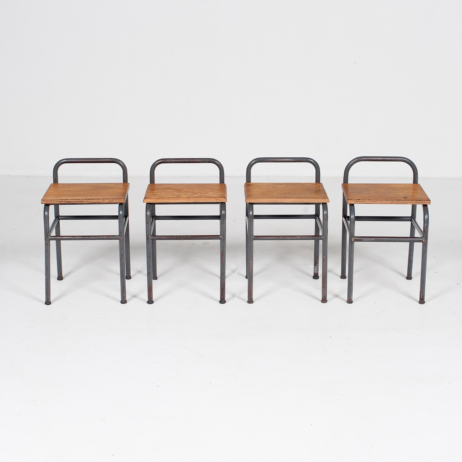 Industrial Stool With Timber Seat, Belgium7