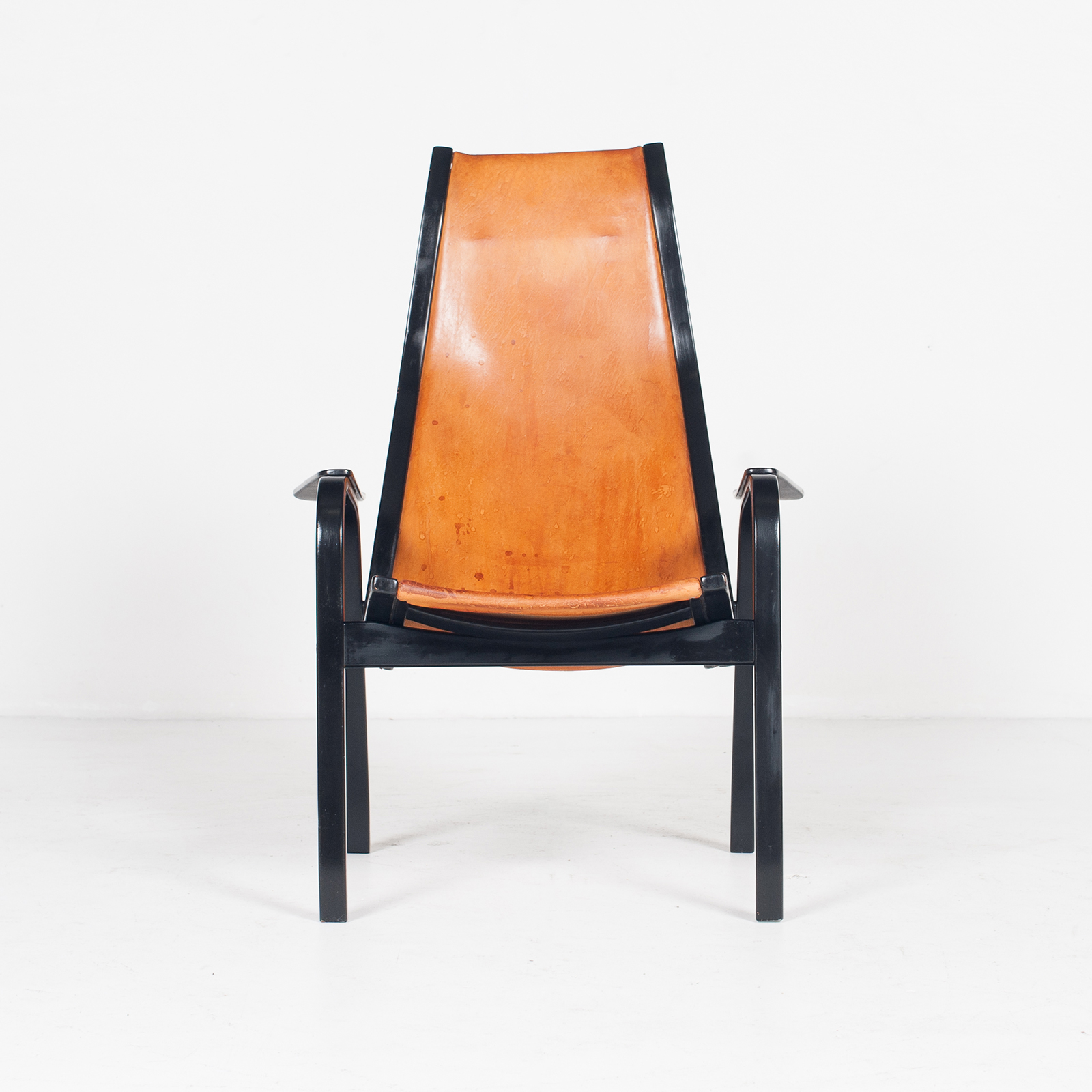 Kurva Lounge Chair By Yngve Ekstrom For Swedese In Tan Leather, 1950s, Sweden 29