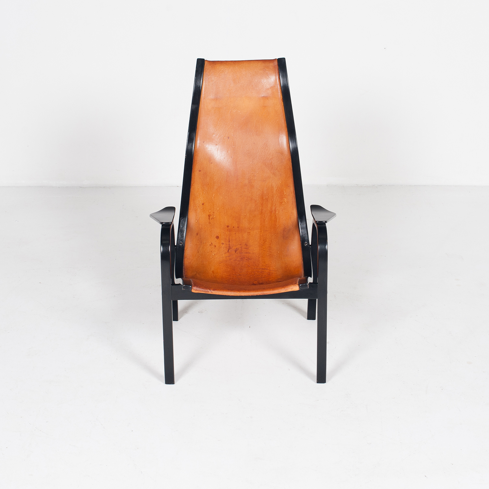Kurva Lounge Chair By Yngve Ekstrom For Swedese In Tan Leather, 1950s, Sweden 31