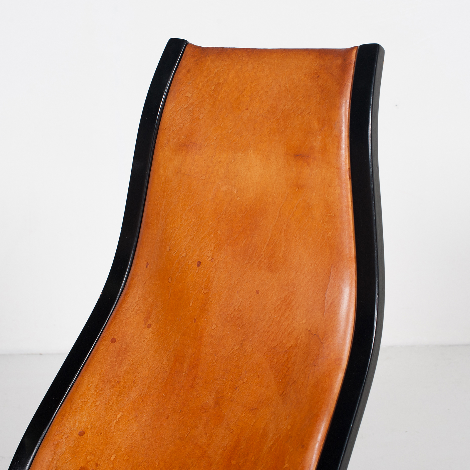 Kurva Lounge Chair By Yngve Ekstrom For Swedese In Tan Leather, 1950s, Sweden 35