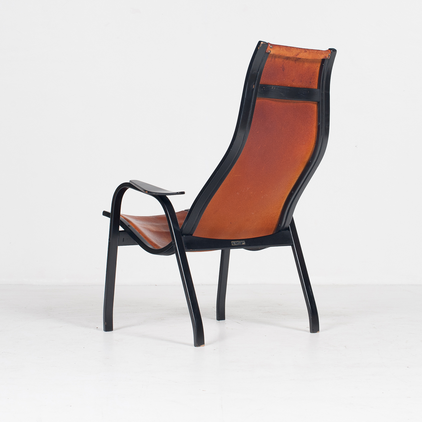 Kurva Lounge Chair By Yngve Ekstrom For Swedese In Tan Leather, 1950s, Sweden 37