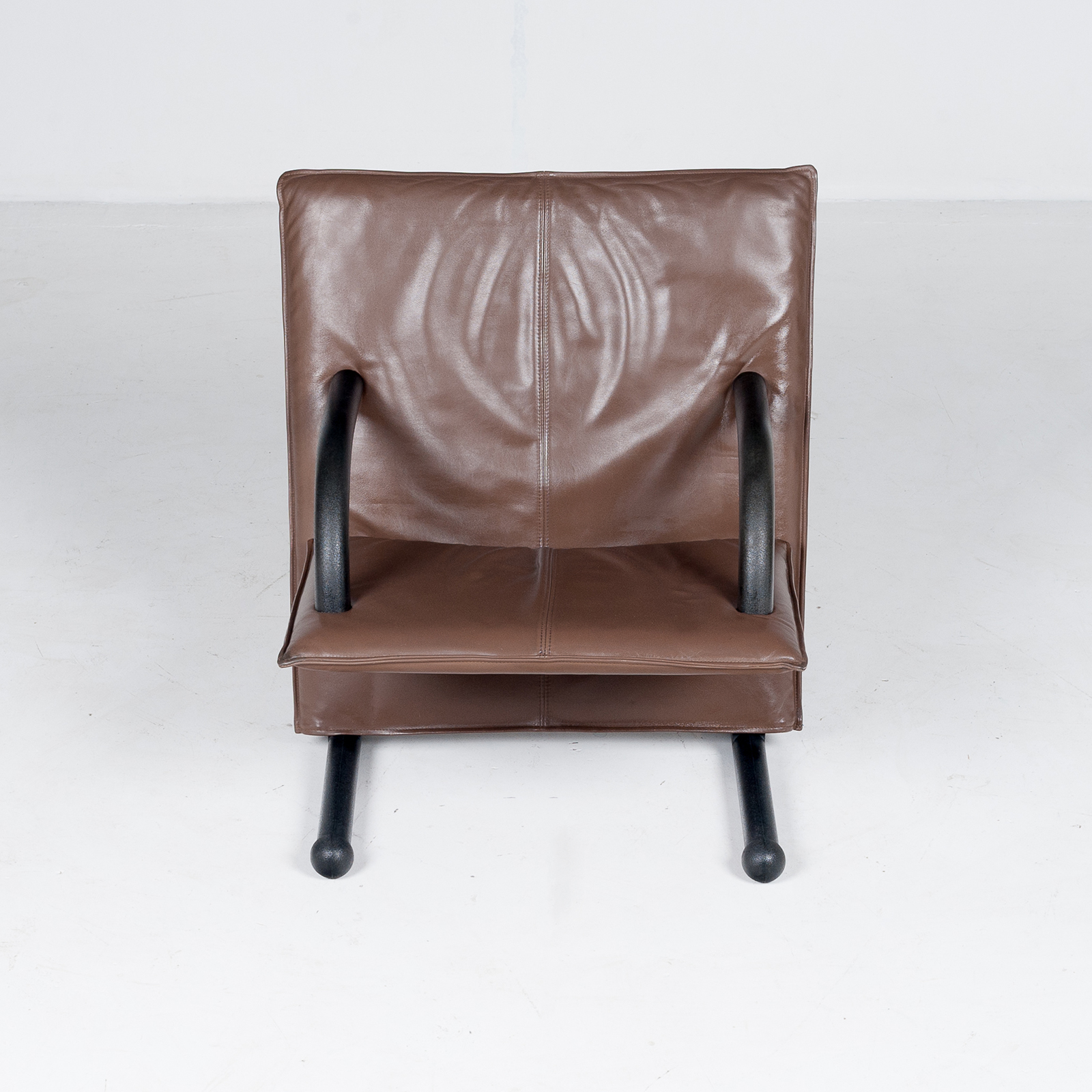 Model T Line Chair In By Burkhard Vogtherr For Arflex In Brown Leather, 1980s, Italy66