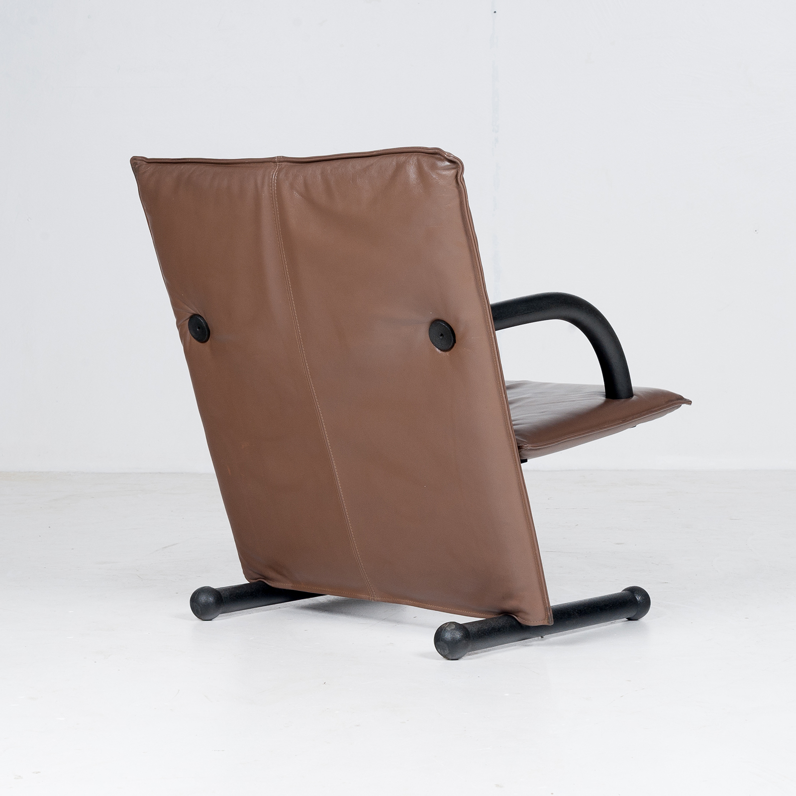 Model T Line Chair In By Burkhard Vogtherr For Arflex In Brown Leather, 1980s, Italy71