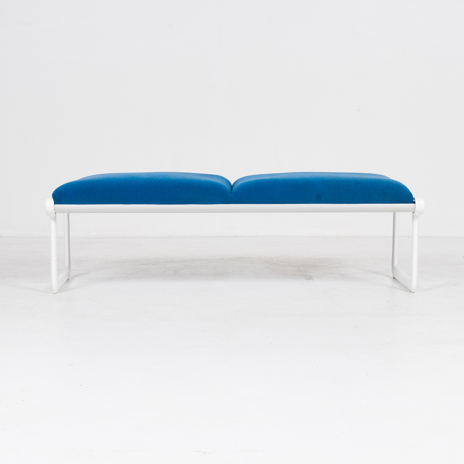 Bench By Bruce Hannah And Andrew Morrison For Knoll With Blue Upholstery, 1960s, United States 0