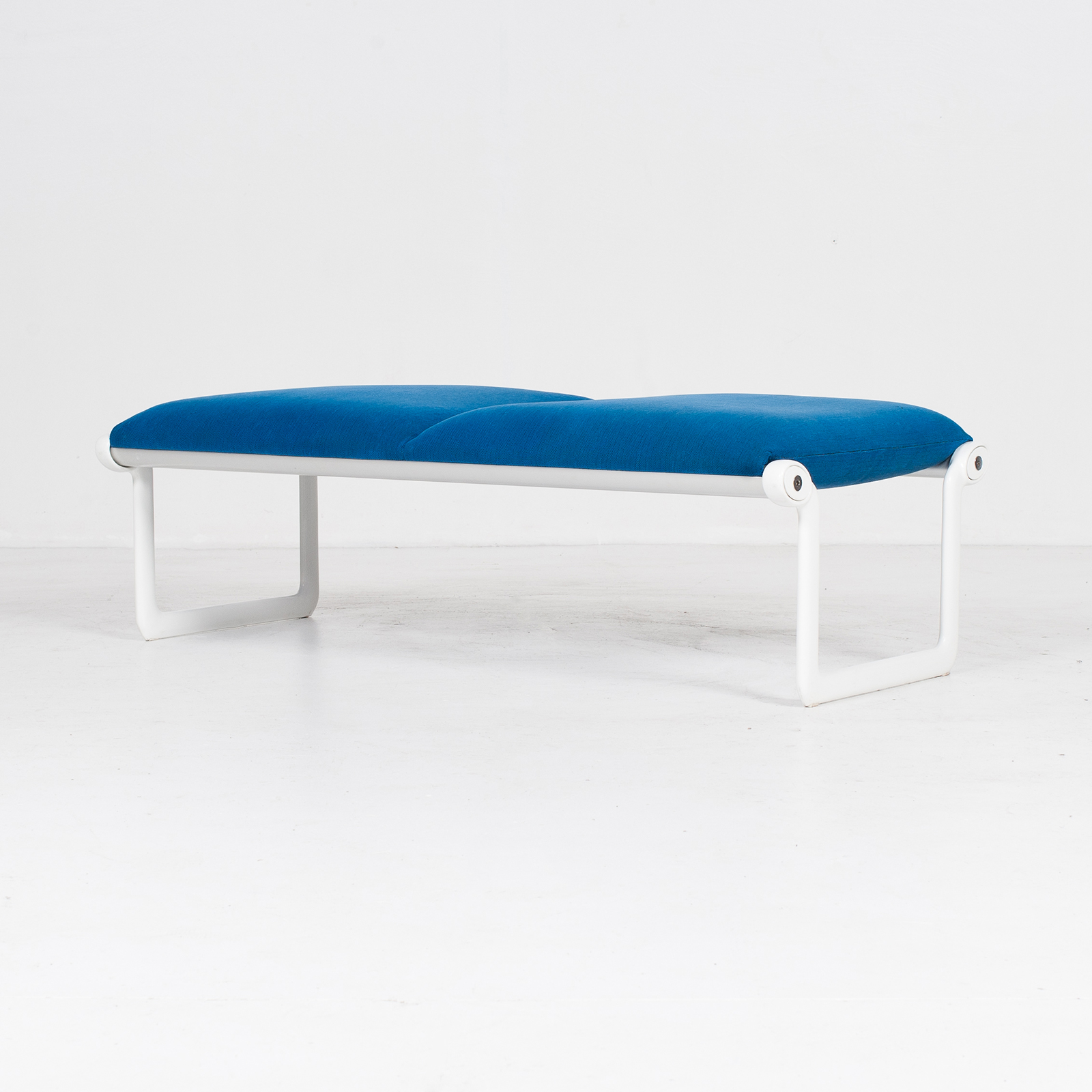 Bench By Bruce Hannah And Andrew Morrison For Knoll With Blue Upholstery, 1960s, United States 2