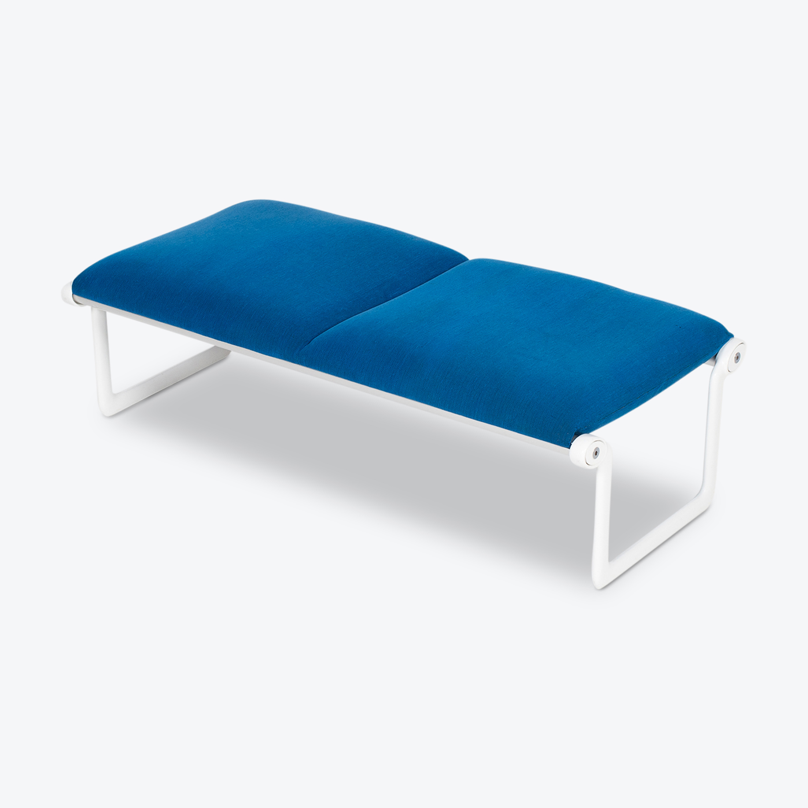 Bench By Bruce Hannah And Andrew Morrison For Knoll With Blue Upholstery, 1960s, United States Hero