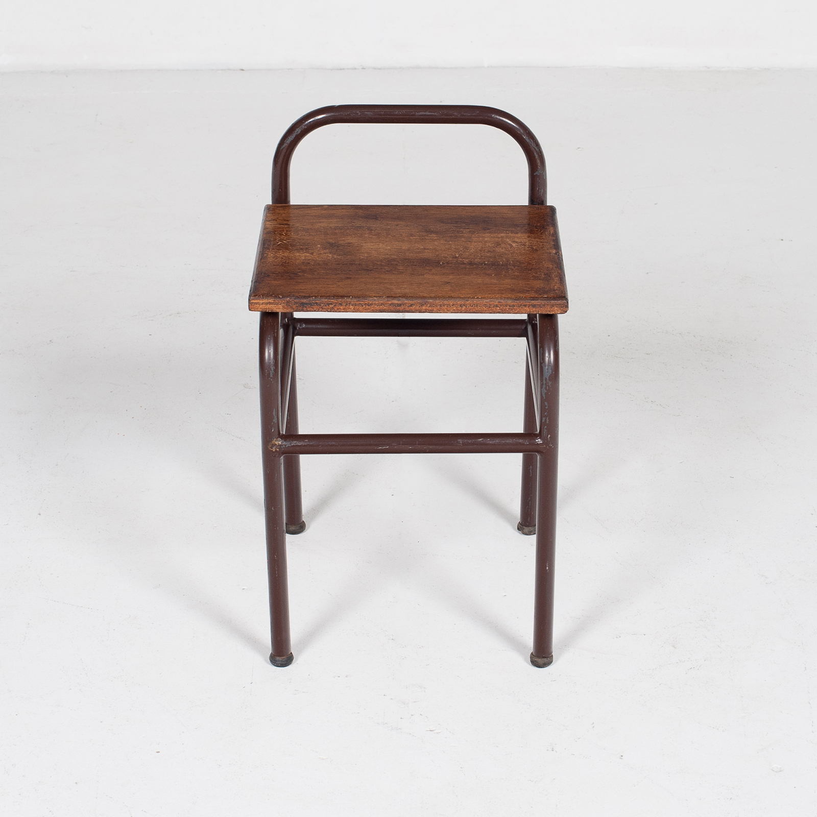 Industrial Stool With Timber Seat, Belgium Mt Stl 194 2602 Be Set 2 Of 2 79