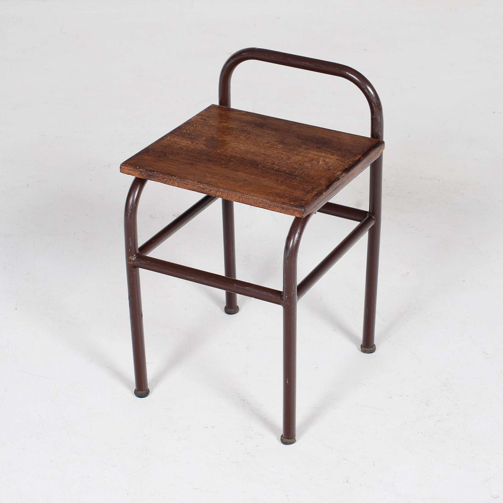 Industrial Stool With Timber Seat, Belgium Mt Stl 194 2602 Be Set 2 Of 2 80