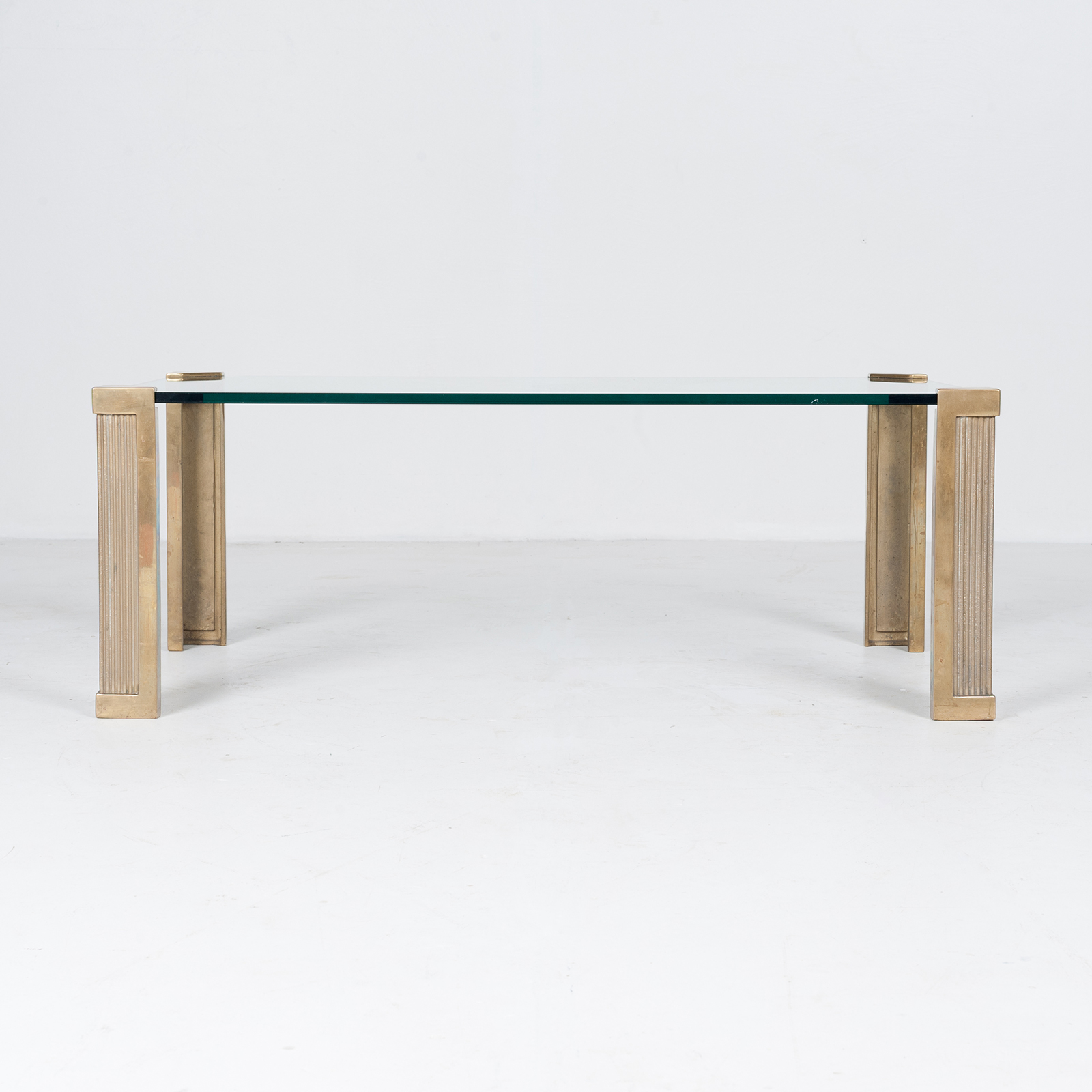 Rectangular Coffee Table In Brass And Glass By Peter Ghyczy, 1970s, The Netherlands 1