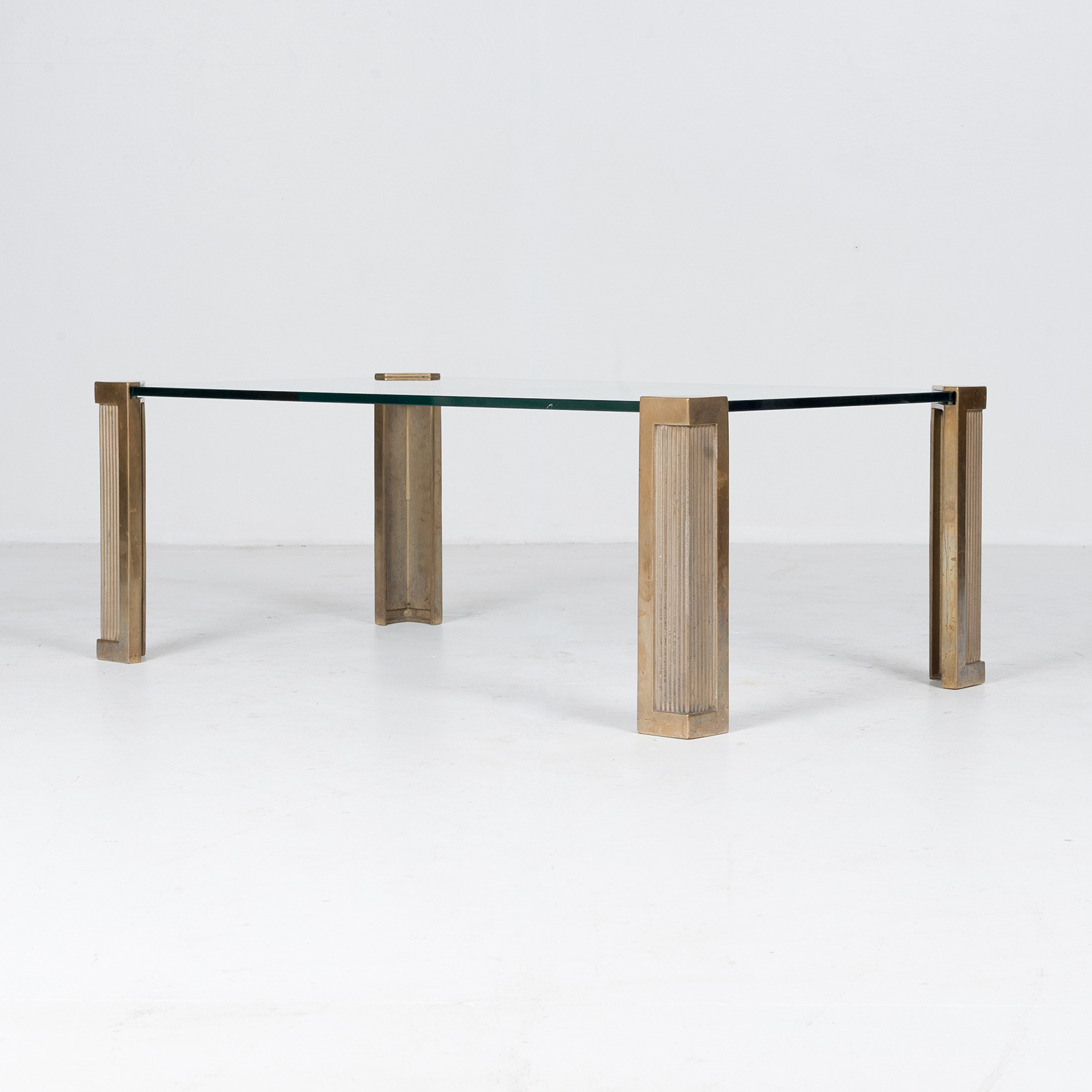 Rectangular Coffee Table In Brass And Glass By Peter Ghyczy, 1970s, The Netherlands 3