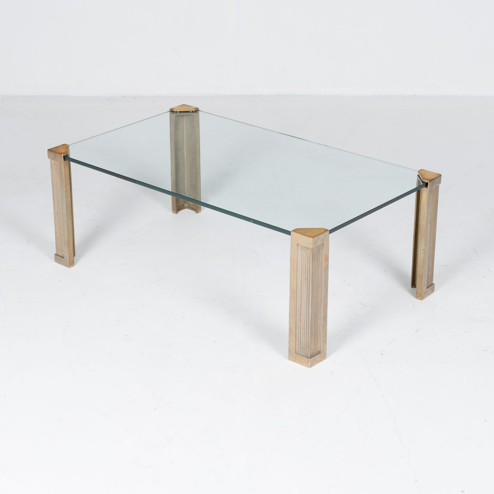 Rectangular Coffee Table In Brass And Glass By Peter Ghyczy, 1970s, The Netherlands 4