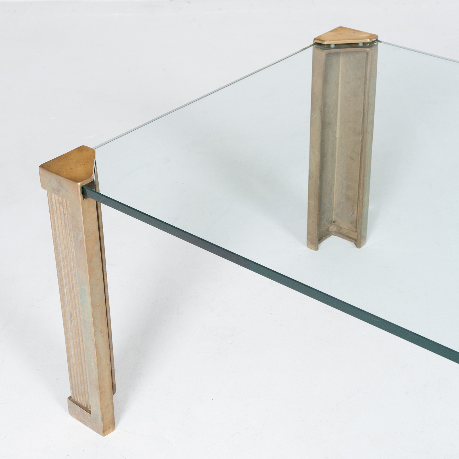 Rectangular Coffee Table In Brass And Glass By Peter Ghyczy, 1970s, The Netherlands 5