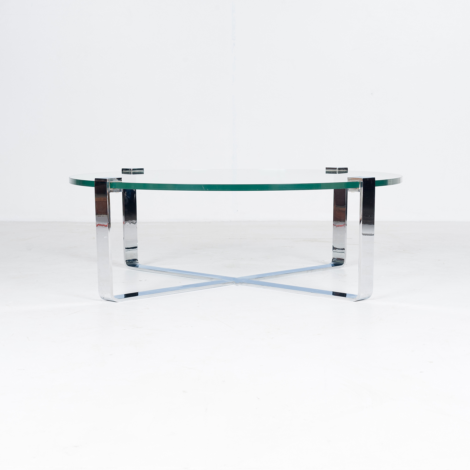 Round Coffee Table In Glass And Polished Chrome By Friedrich Wilhelm Moller For Ronald Schmitt, 1970s, Germany64