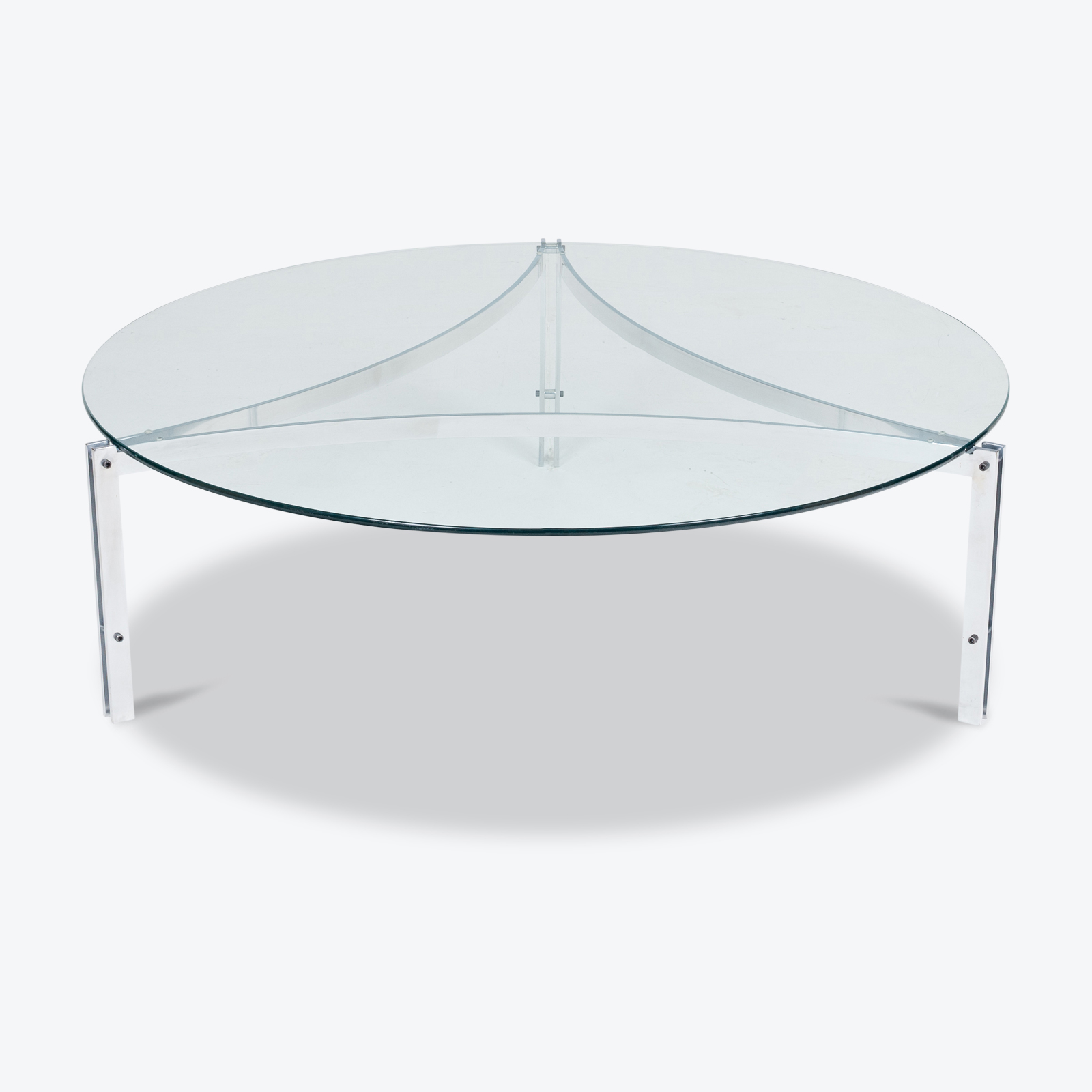 Tri Base Coffee Table By Metaform, 1970s, The Netherlands Hero