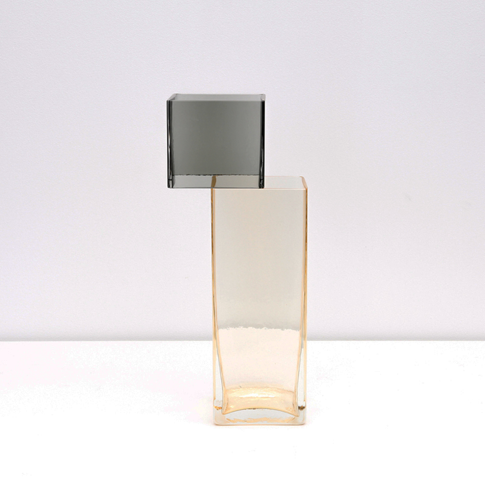 Graft Vase E In Charcoal And Champagne Hand Blown Glass By Liam Fleming Hero