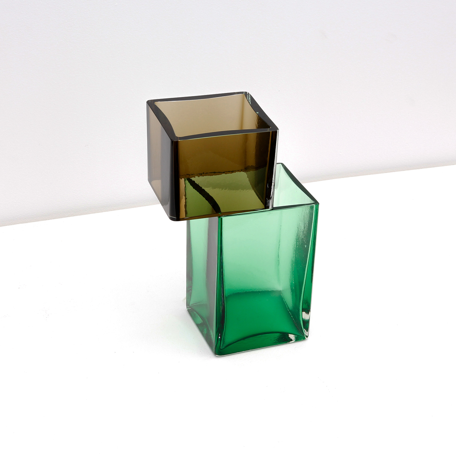 Graft Vase E2 In Elixir And Green Hand Blown Glass By Liam Fleming 2