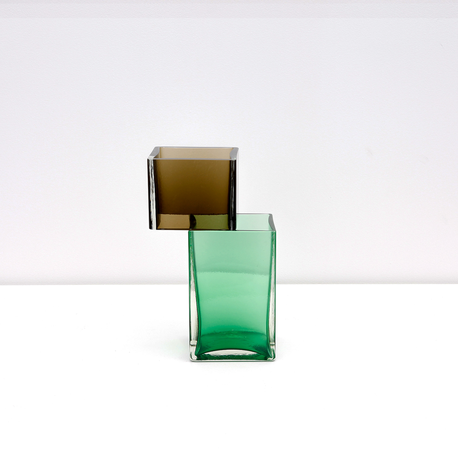 Graft Vase E2 In Elixir And Green Hand Blown Glass By Liam Fleming Hero