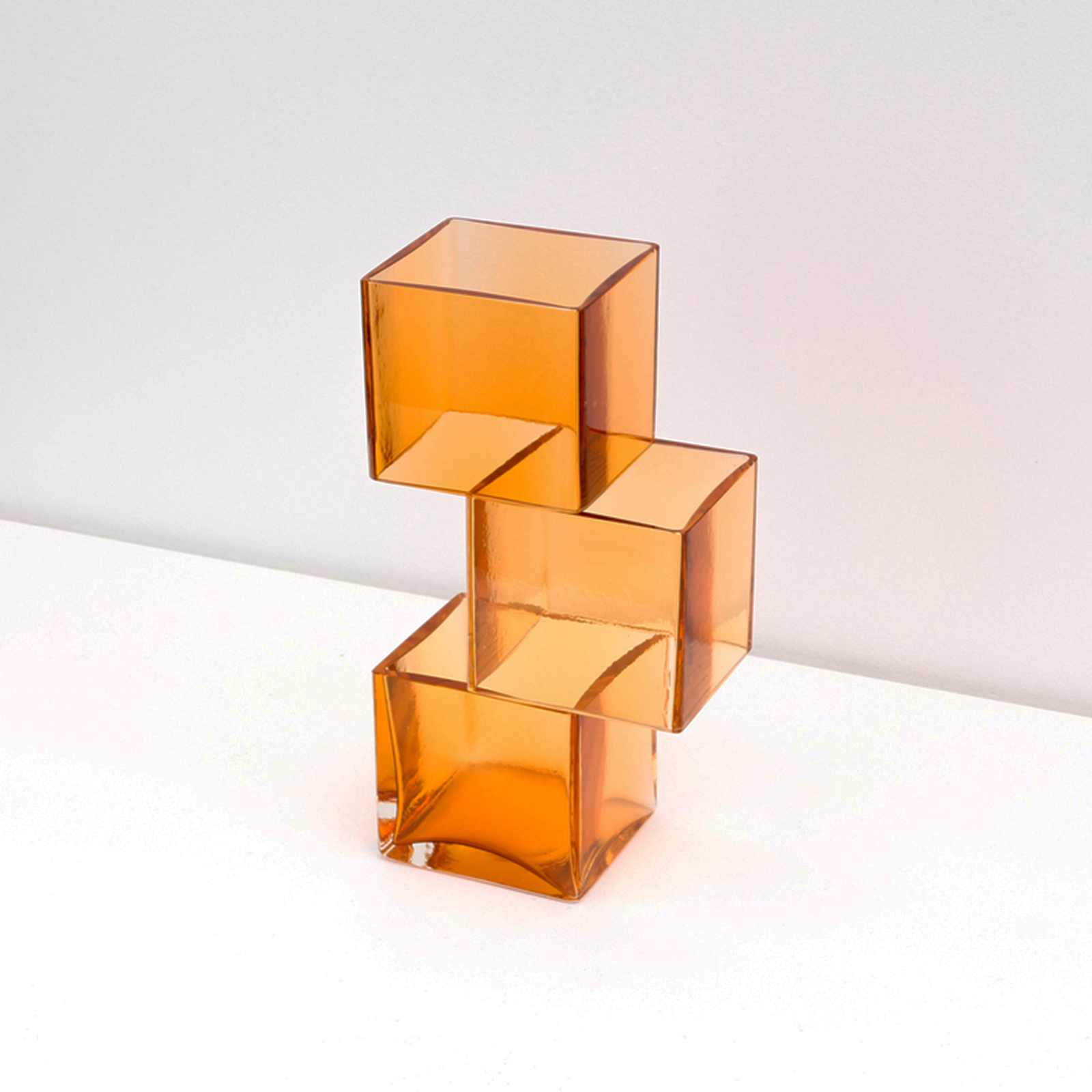Graft Vase Triad In Amber Blown Glass By Liam Fleming 2