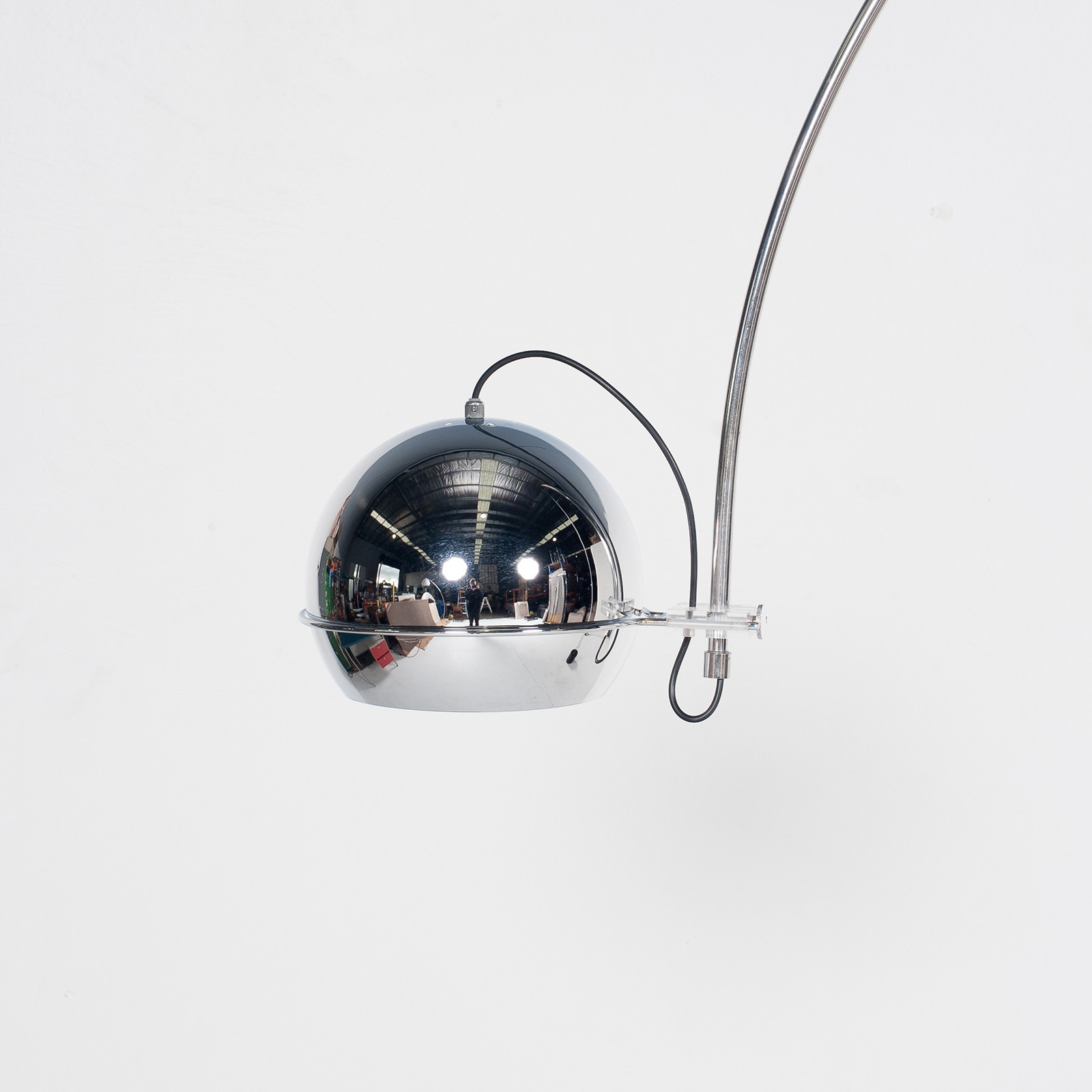 Arc Lamp By Gepo With Painted Black Base, 1950s, The Netherlands 4
