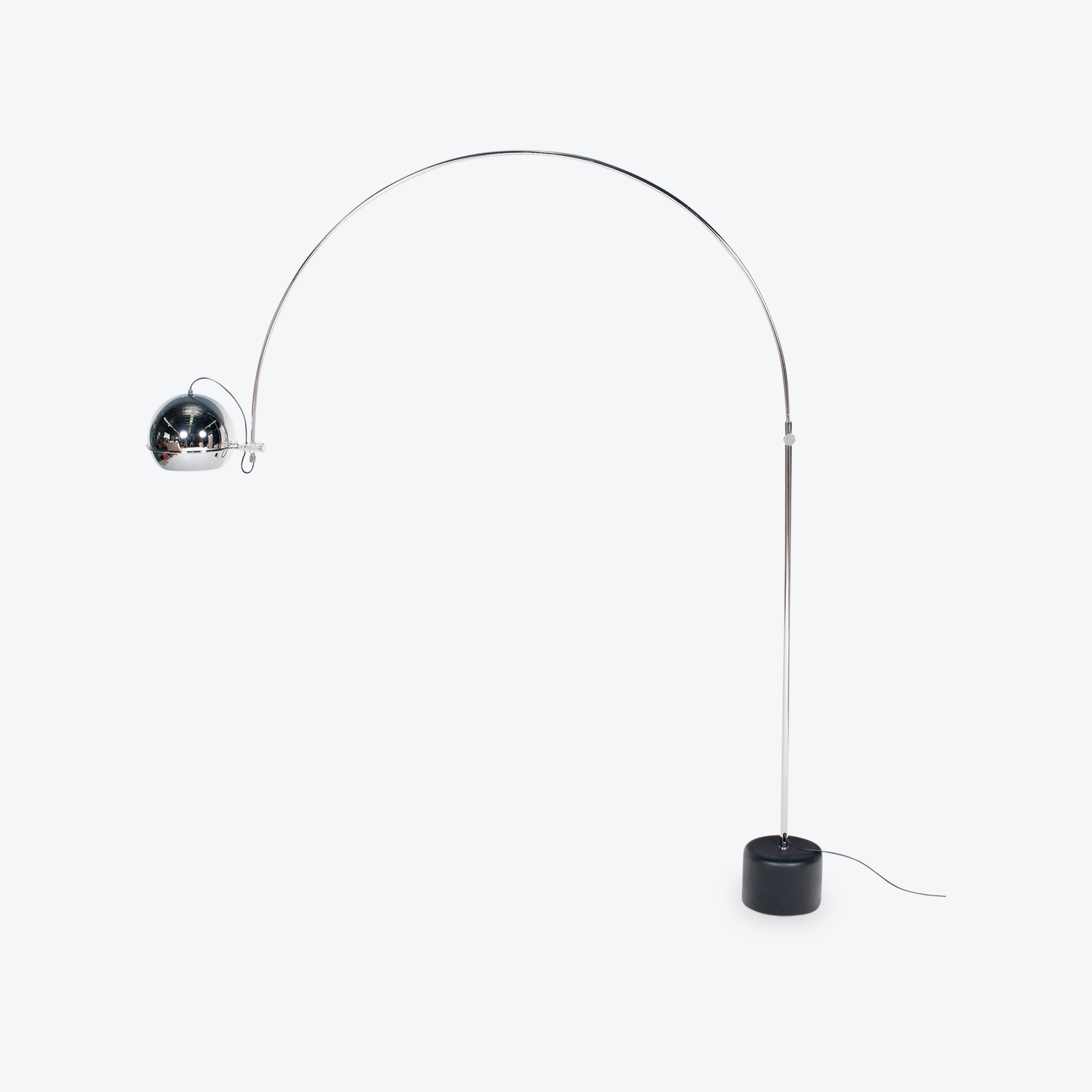 Arc Lamp By Gepo With Painted Black Base, 1950s, The Netherlands Hero