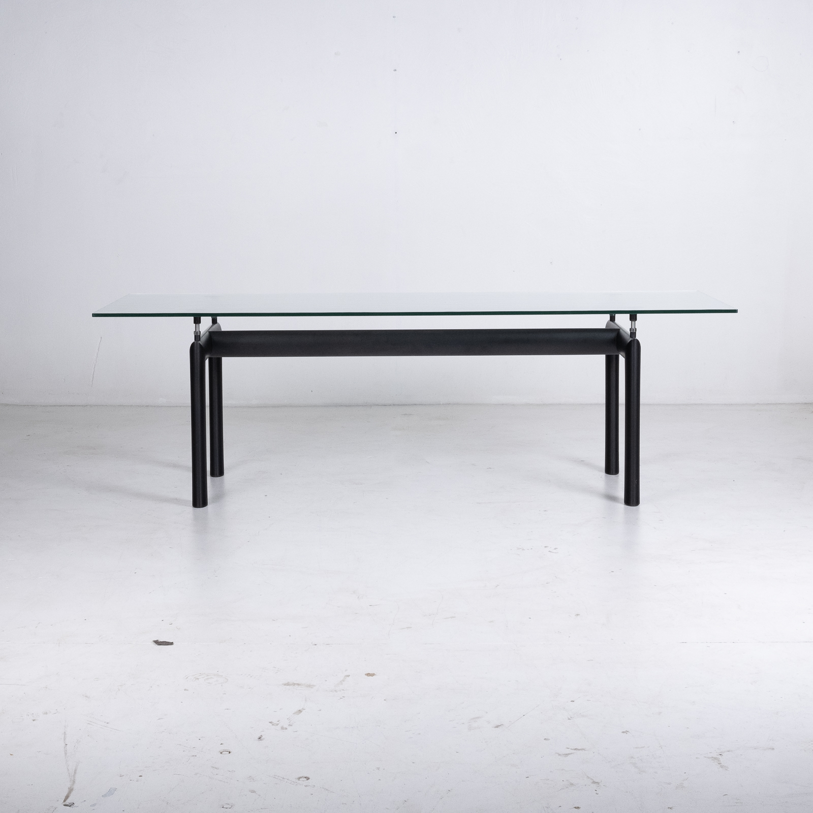 Model Lc6 Glass Table By Le Corbusier For Cassina, 1990s, Italy1