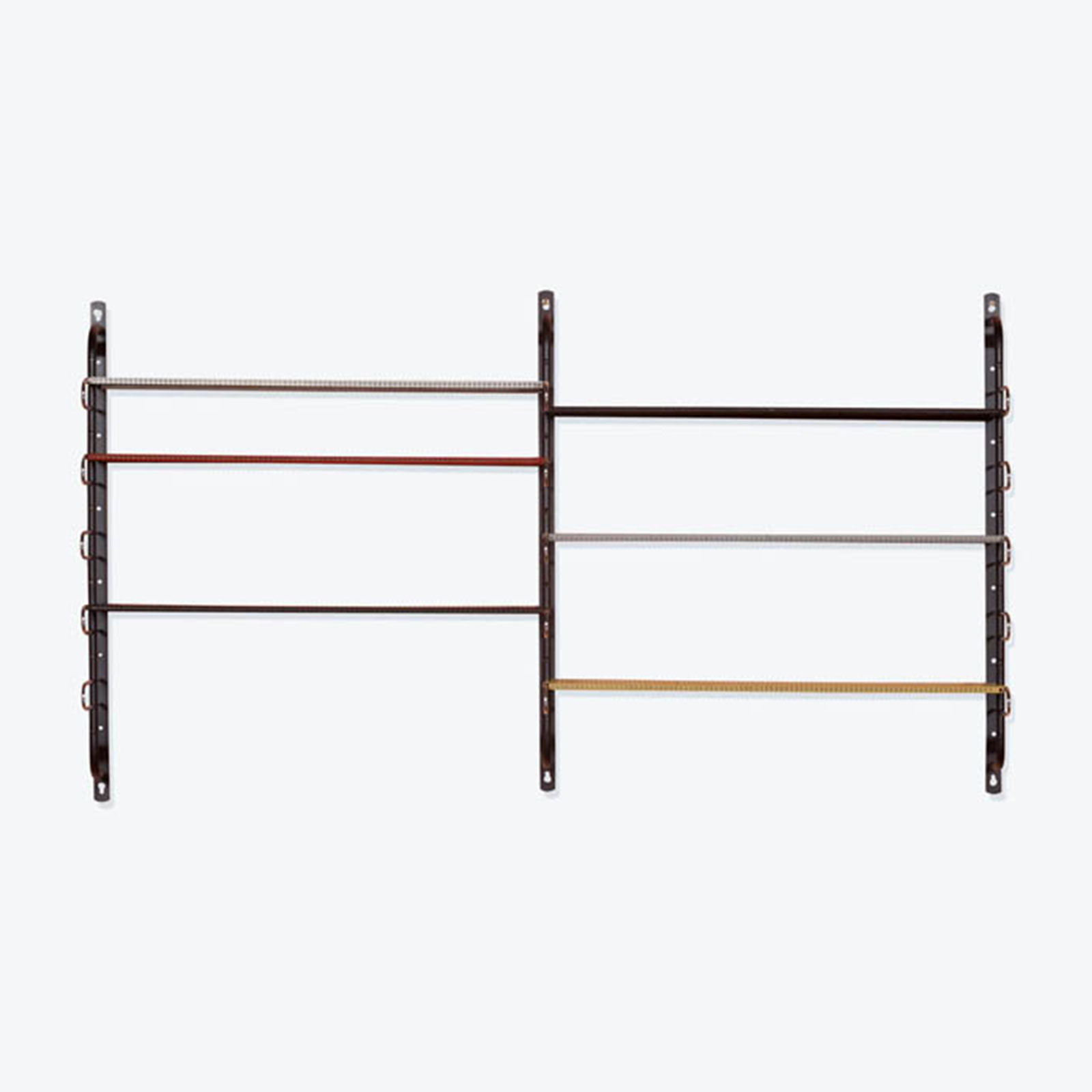 String Shelving By Mathieu Mategot In Perforated Metal And Chrome, 1960s, France Hero