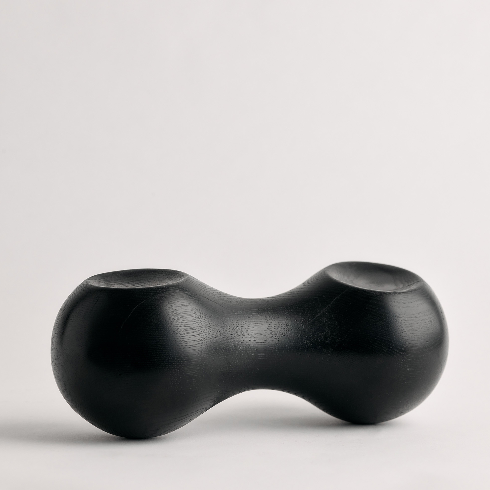 Black Bean Sculpture In Ebonized American Oak By Zachary Frankel 5