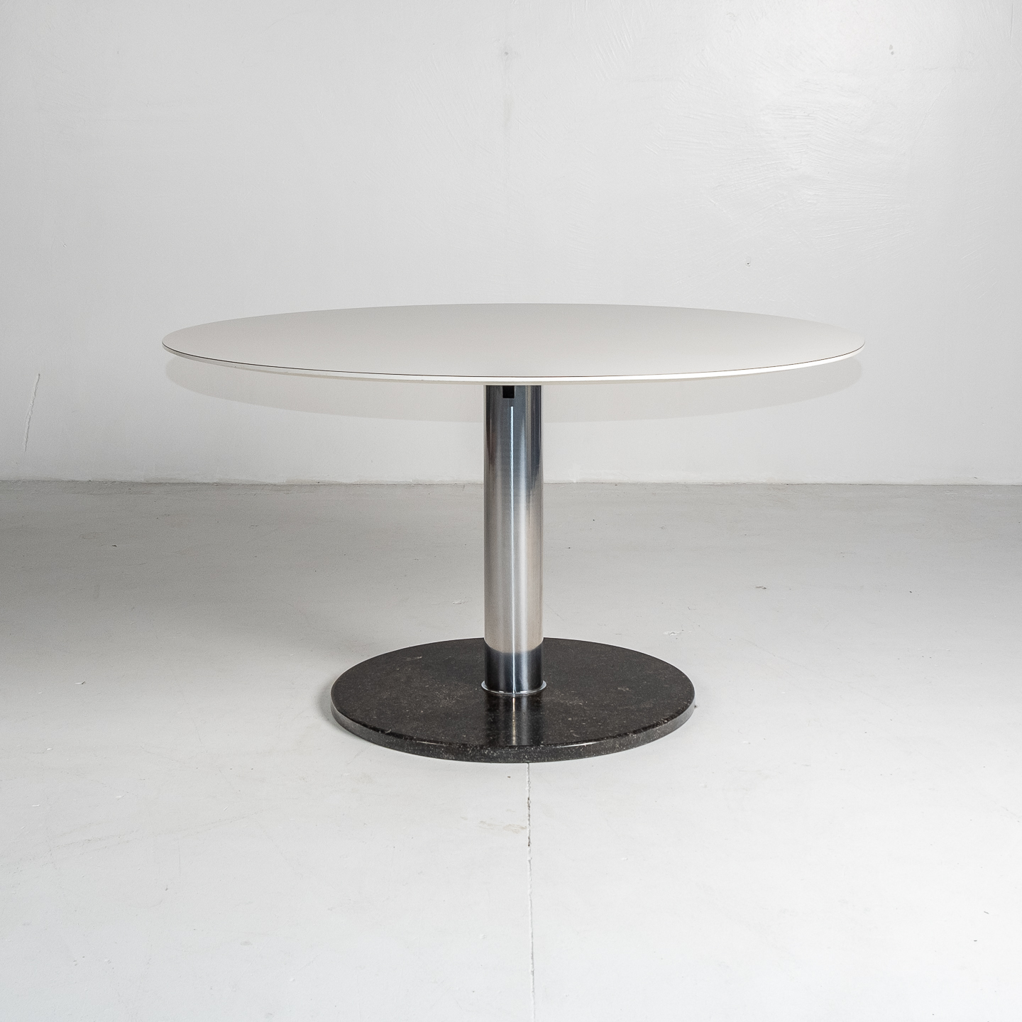 Dining Table With Slate Base And White Laminate Top By Alfred Hendrickx For Belform, 1960s, Belgium 64