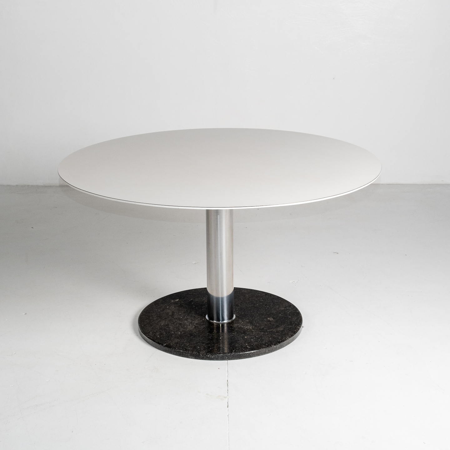Dining Table With Slate Base And White Laminate Top By Alfred Hendrickx For Belform, 1960s, Belgium 67