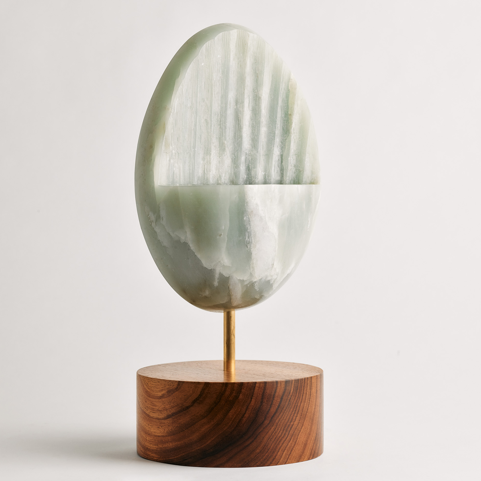 Green Sculpture In Soapstone On A Tasmanian Blackwood Base By Zachary Frankel 2