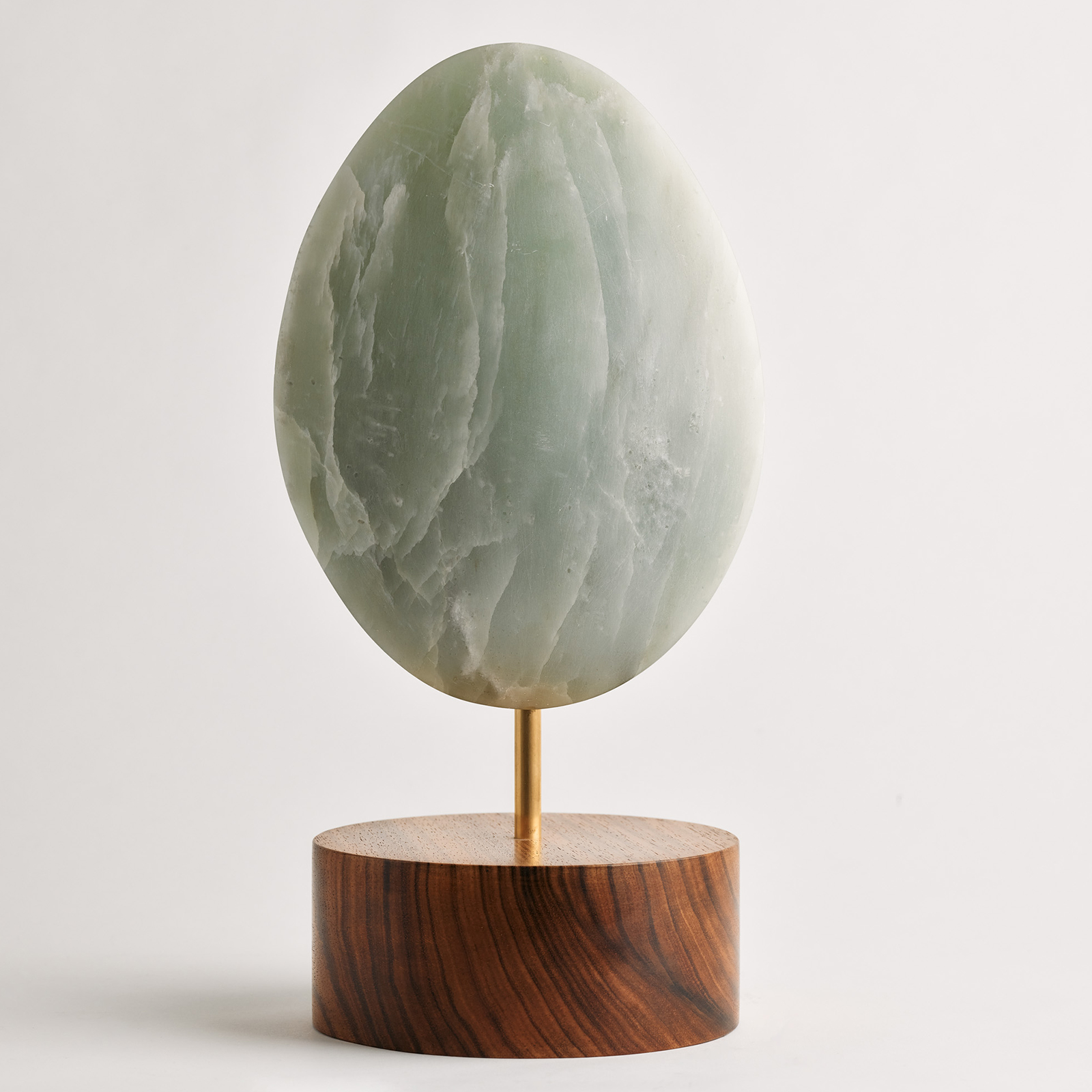 Green Sculpture In Soapstone On A Tasmanian Blackwood Base By Zachary Frankel 4