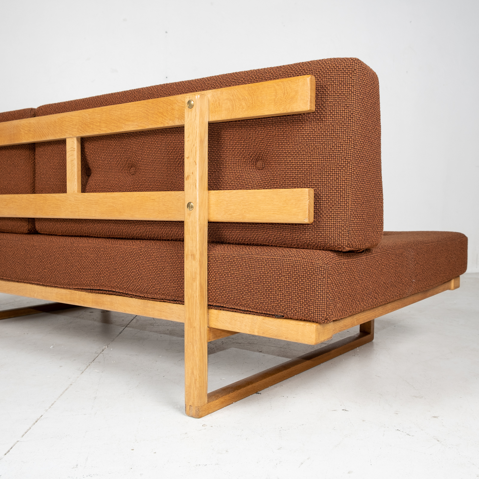 Model 4312 Daybed By Borge Mogensen For Fredericia Stolefabrik In Oak And New Kvadrat Wool Upholstery, Denmark, 1950s3