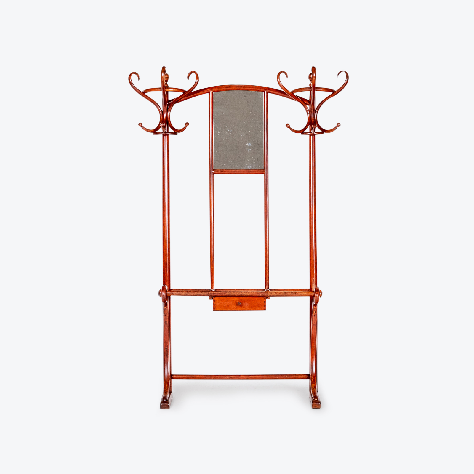 Model No. 4 Coat Stand By Michael Thonet For Thonet, Vienna, 1910 Hero