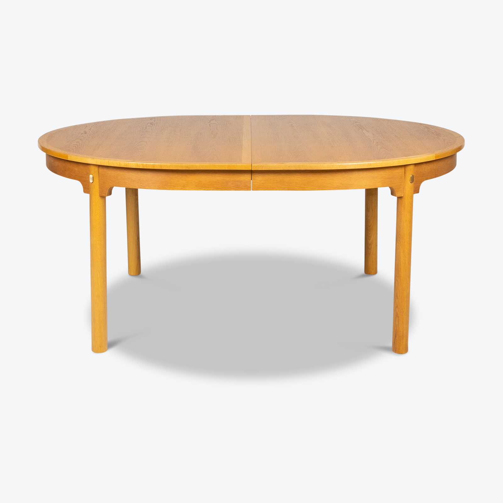 Oresund Round Dining Table By Borge Mogensen For Karl Andersson & Soner In Oak With One Extension Leaf, 1960s, Denmark Hero
