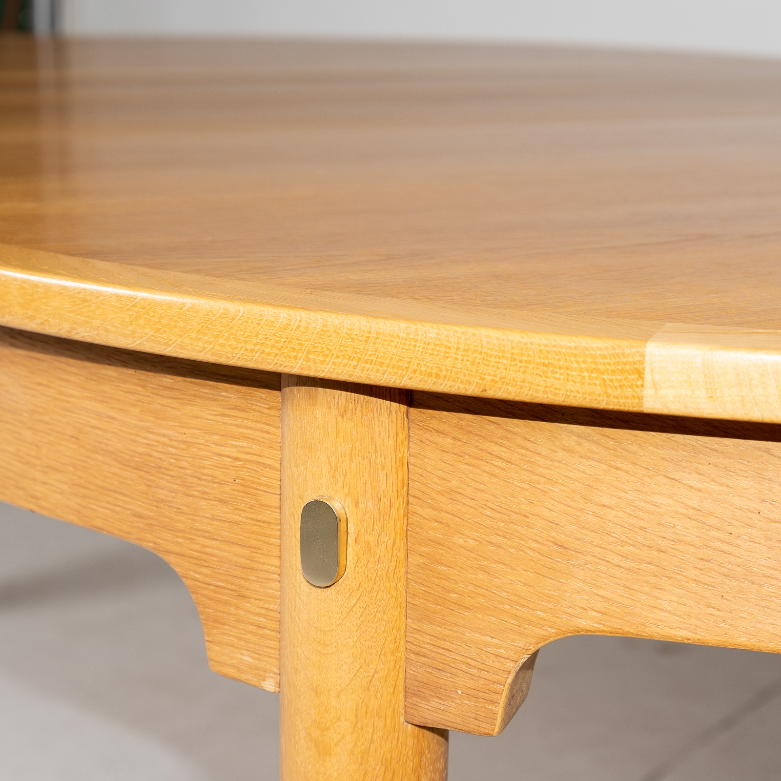 Oresund Round Dining Table By Borge Mogensen For Karl Andersson & Soner In Oak With One Extension Leaf, 1960s, Denmark3