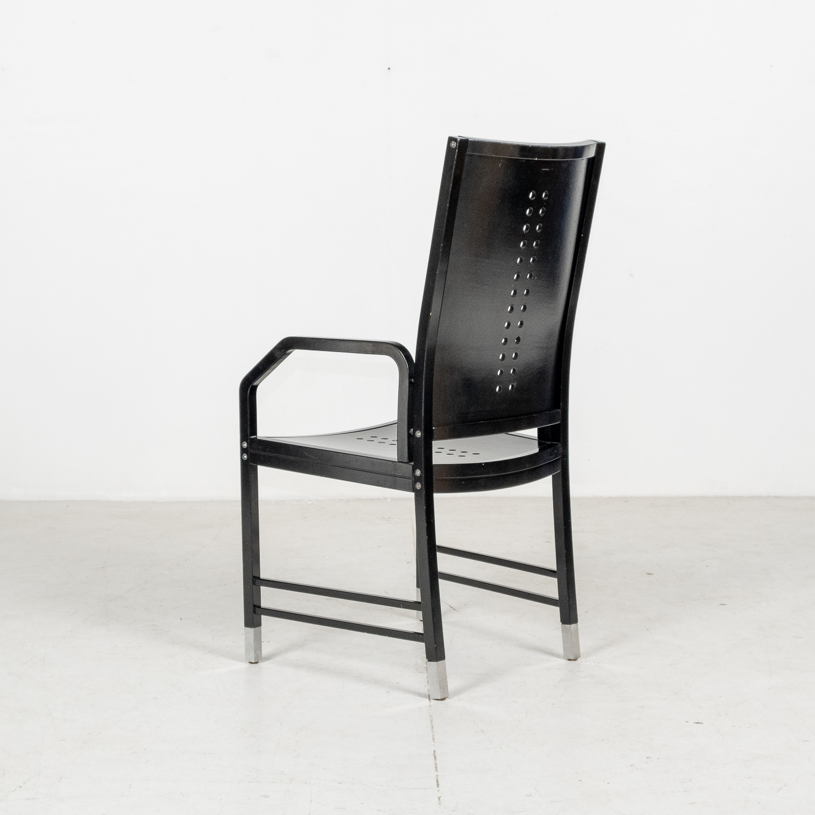 Thonet Chair In Black Hoffmann Style, 1980s, Germany02
