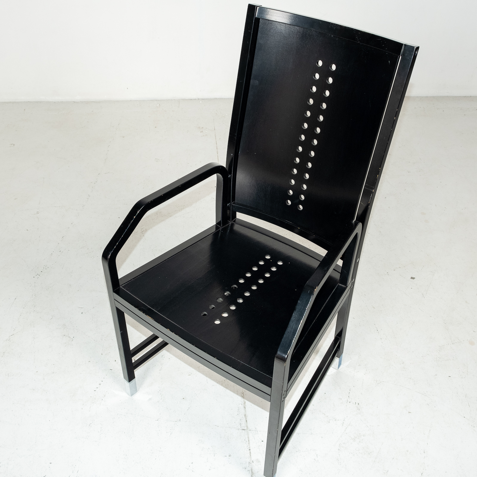Thonet Chair In Black Hoffmann Style, 1980s, Germany03