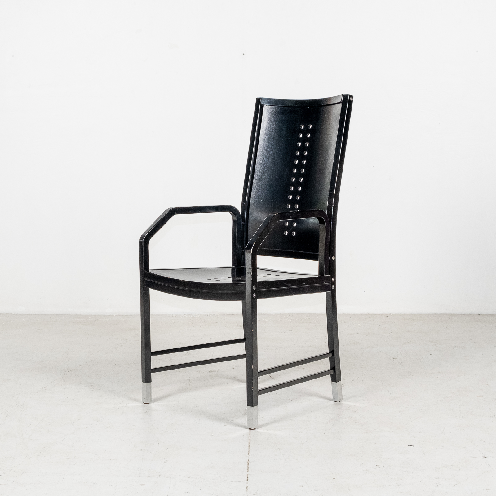 Thonet Chair In Black Hoffmann Style, 1980s, Germany04