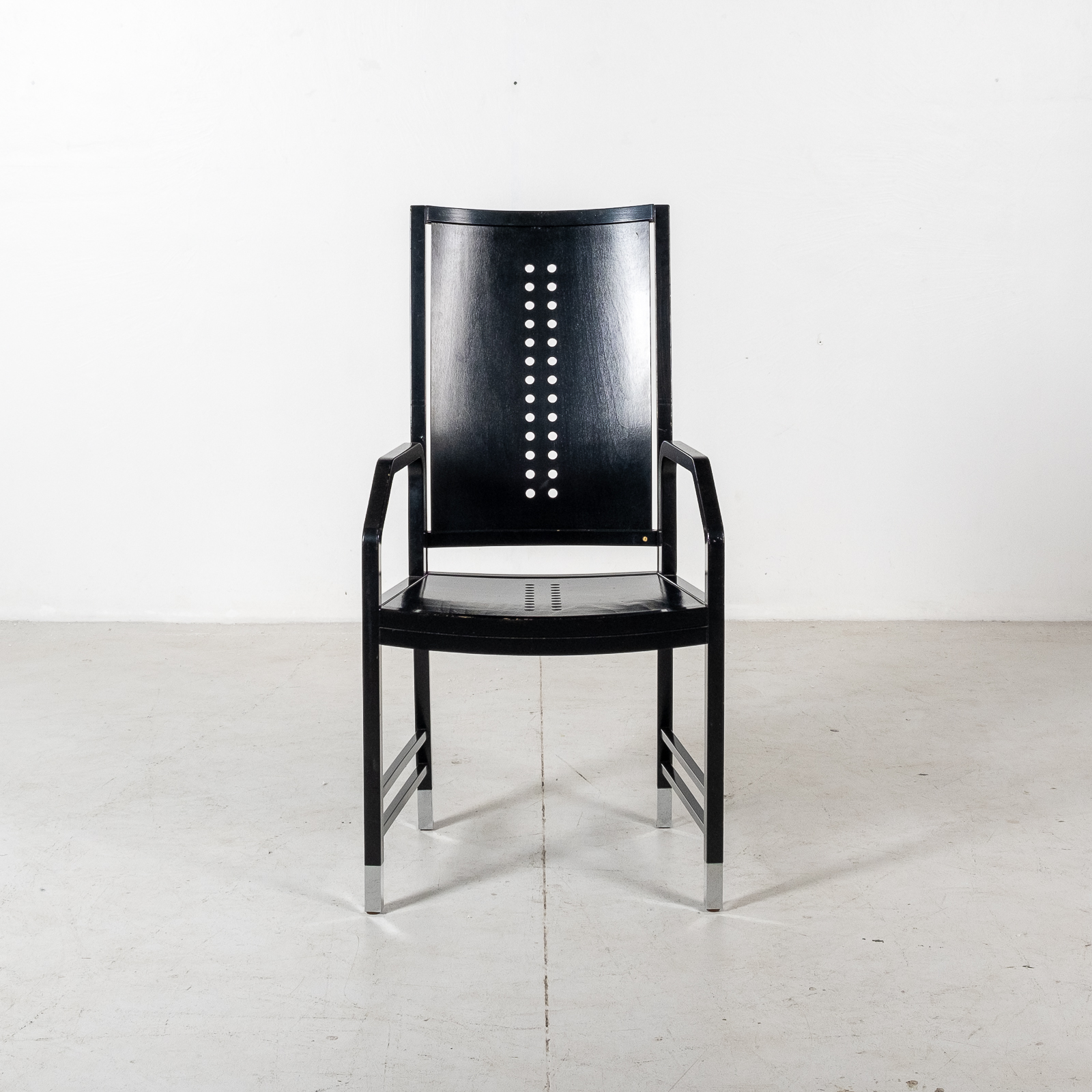 Thonet Chair In Black Hoffmann Style, 1980s, Germany06