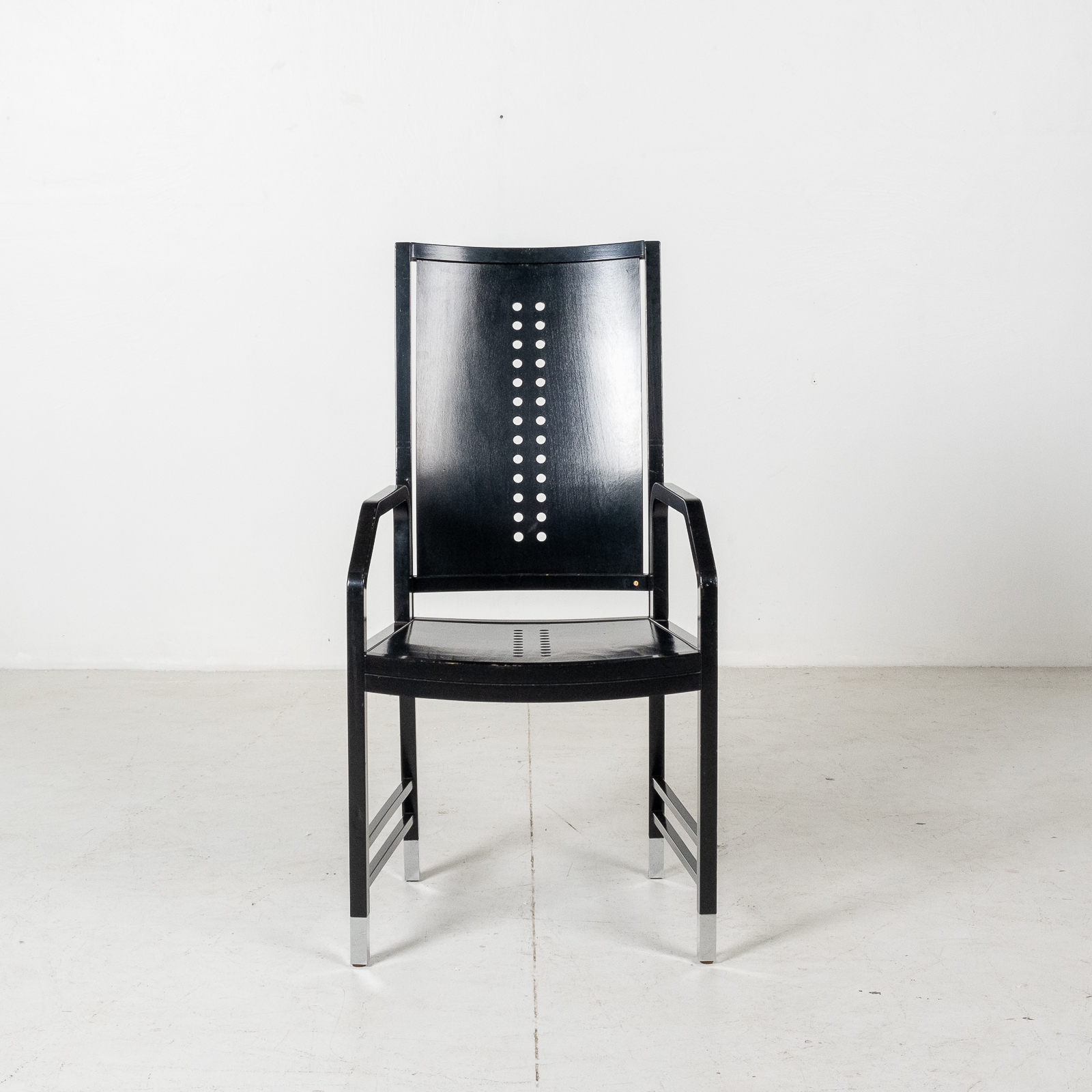 Thonet Chair In Black Hoffmann Style, 1980s, Germany07
