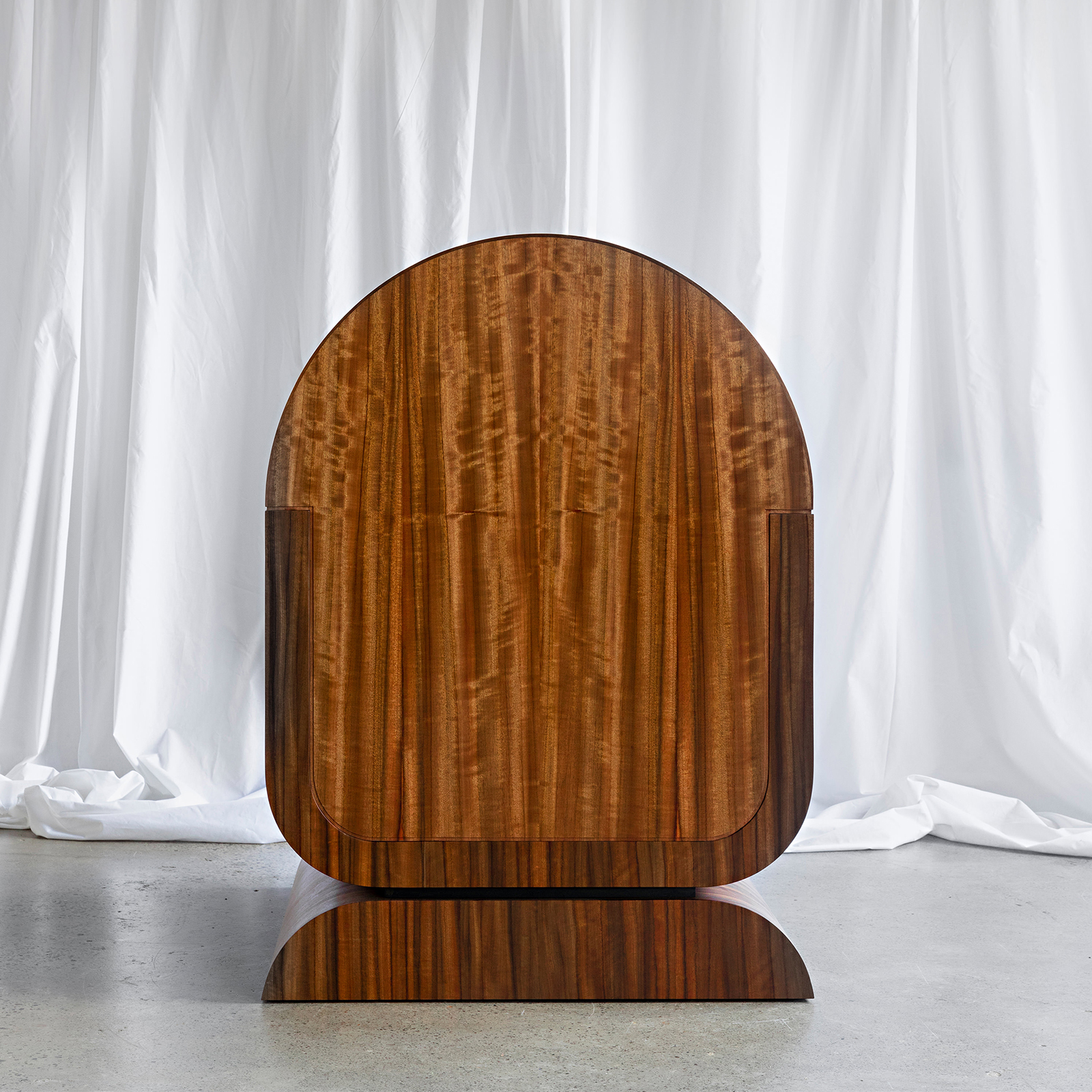 X Chair In Rare Queensland Walnut With Kvadrat Upholstery By Zachary Frankel 2