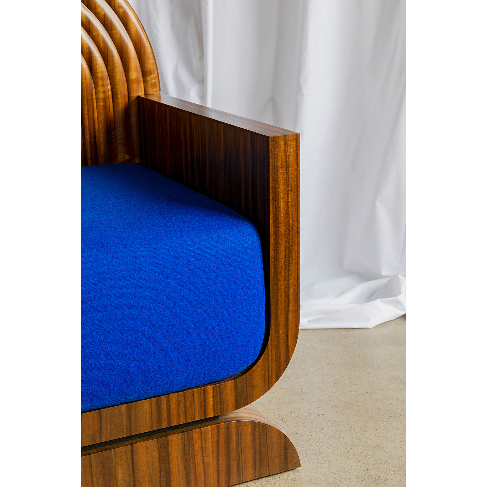 X Chair In Rare Queensland Walnut With Kvadrat Upholstery By Zachary Frankel 4